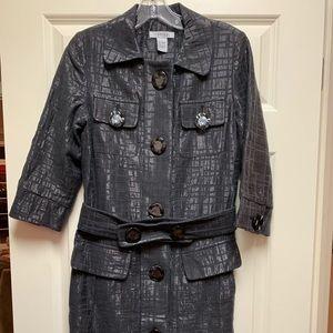 Vertigo Paris gray/silver jacket dress Small